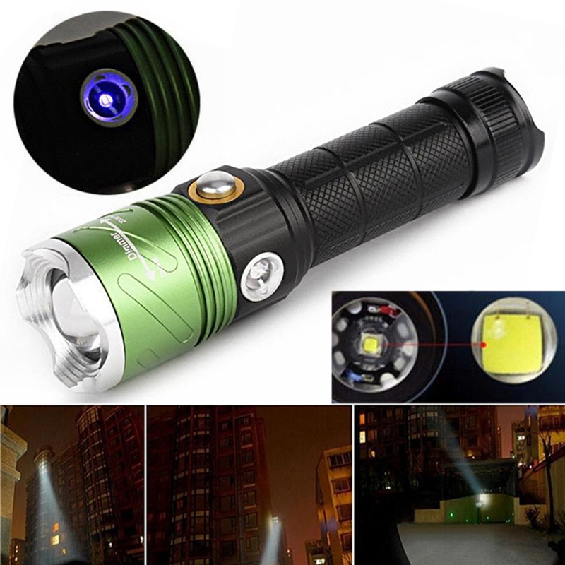 Waterproof XML L2 3000ML Scuba Diving Underwater 5M Flashlight Set for Portable Outdoor Dive Hiking Camping Super Bright Torch(China (Mainland))