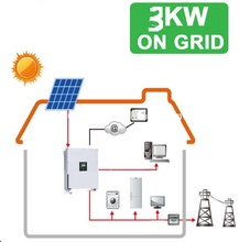 High efficiency 3000w 3kw grid tie solar system/ complete on grid solar system(China (Mainland))