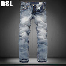 Italy Famous Brand Men's Fashion Jeans,2015 New Arrival,100% Cotton,High Quality,Blue Vintage Jeans Pants,F957(China (Mainland))