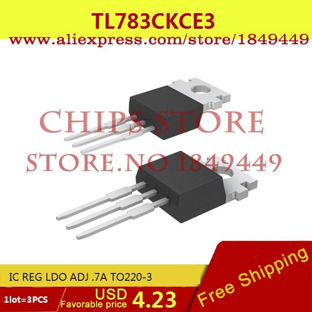 Free Shipping Integrated Circuits Types TL783CKCE3 IC REG LDO ADJ .7A TO220-3 783 TL783 3pcs