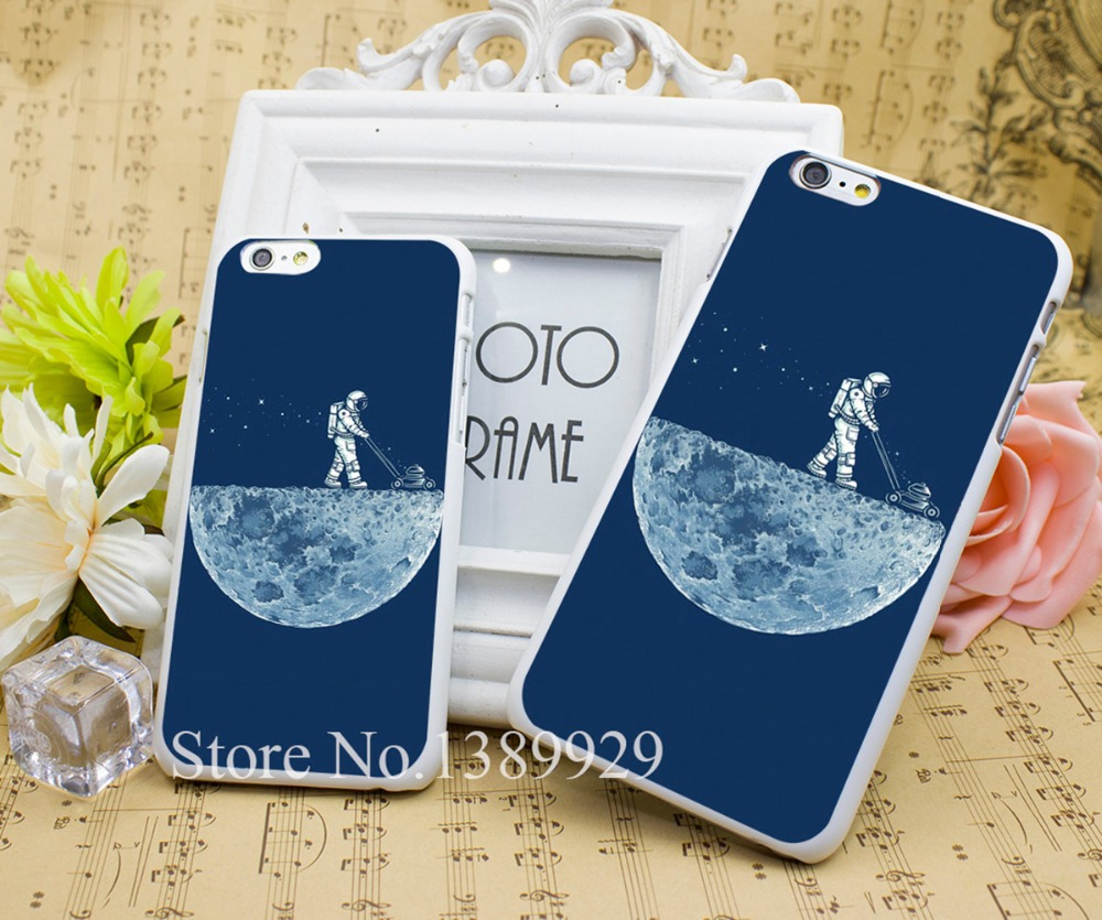 Mown moon cleaner Phone Cases Series Case Cover for iPhone 6 6s 6 4s 5sPlus Hard White Plastic Print Back(China (Mainland))