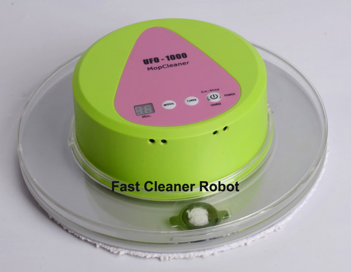 Free Shipping to All the World 2016 Newest UFO design Automatic Floor Wet and Dry Mop Cleaner Robot With 247ml Big Water Tank(China (Mainland))