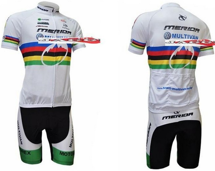 Free shipping! 2009 MERIDA team cycling jersey and shorts / short sleeve jerseys+pants bike bicycle wear set COOL MAX