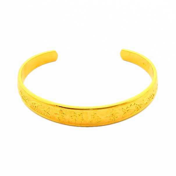 JB006 Shenzhen New Brand Women's Jewelry Fashion Design 24K Gold Plated 26.28G Heavy Invisible Setting Bangle Inlay Pictures(China (Mainland))