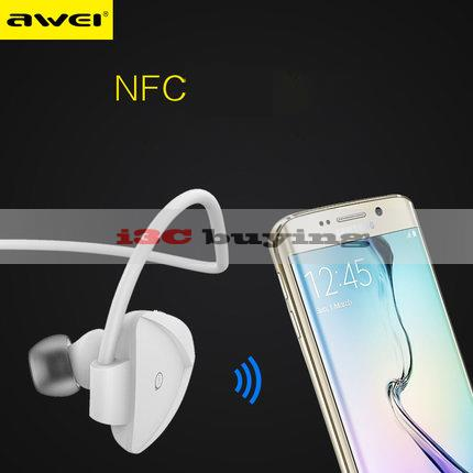 New Awei Earphone Wireless Bluetooth 4 0 Sport Headset Headphones Fone de ouvidoe for iPhone 6