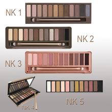 Hot new 1 set Eye Shadow to eye New Nake Makeup Eyeshadow Palette 12 color NK 1 2 3 4 5 Make up tools Set with eyeshadow brushes(China (Mainland))