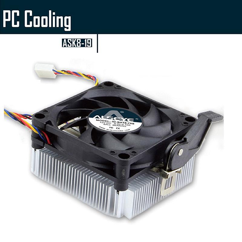 ALSEYE GHK8-19 CPU Cooler LGA K8/AM2/AM3 Cooler for Computer CPU Aluminum Radiator Fan cooling Heat dissipater(China (Mainland))