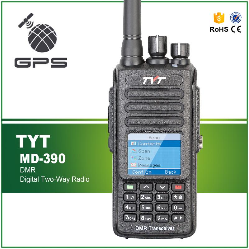 TYT MD-390 GPS VHF 136-174mhz IP67 Waterproof DMR Digital Radio + Programming Cable and Software(China (Mainland))
