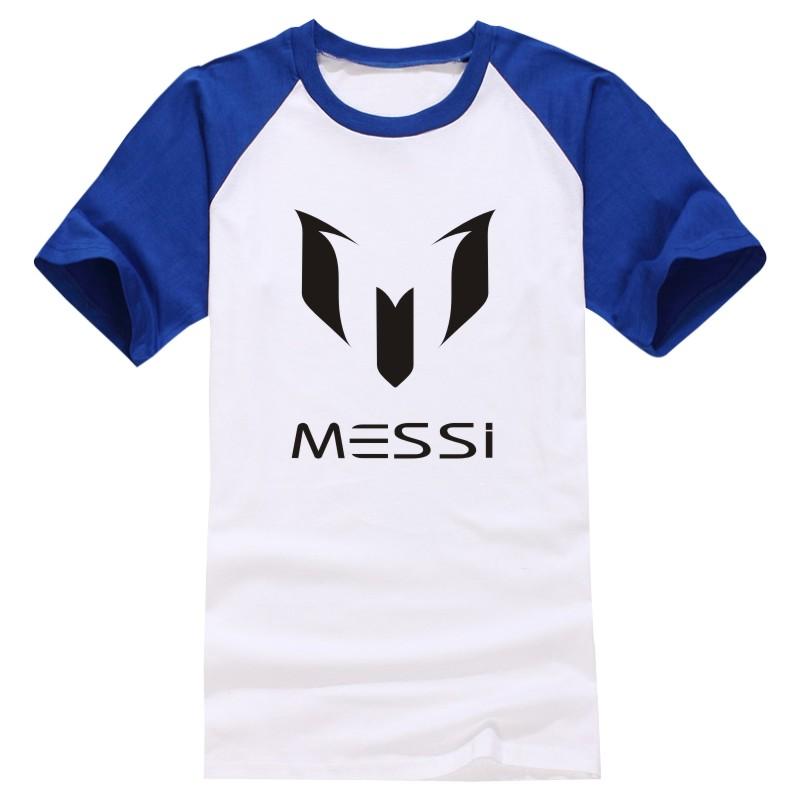2016 Summer Barcelona MESSI Soccer Men T-Shirt Man Streetwear Sport Short Sleeve Football O-Neck T Shirts Plus Size Hip Hop Tops(China (Mainland))