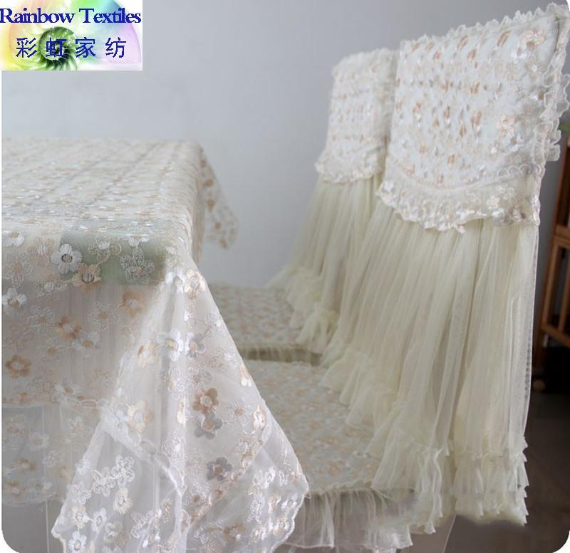 Home and garden table cloth / chair cover chair cushion / rural lace cloth embroidered double color plum flower tablecloth 2015(China (Mainland))