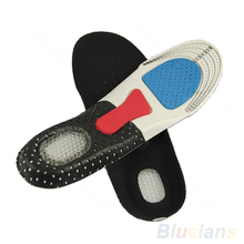 Free Size Unisex Orthotic Arch Support Shoe Pad Sport Running Gel Insoles Insert Cushion for Men Women 1DR6(China (Mainland))