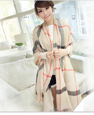 2016 new fashion women cotton scarf Spring and summer super Large Beach towel lattice scarf shawl