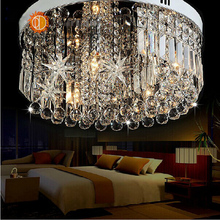 Modern Crystal Glass Ceiling Lamp Novelty Crystal Light Foyer Ceiling Lamp Hotel Hall Ceiling Lamp Free Shipping (China (Mainland))