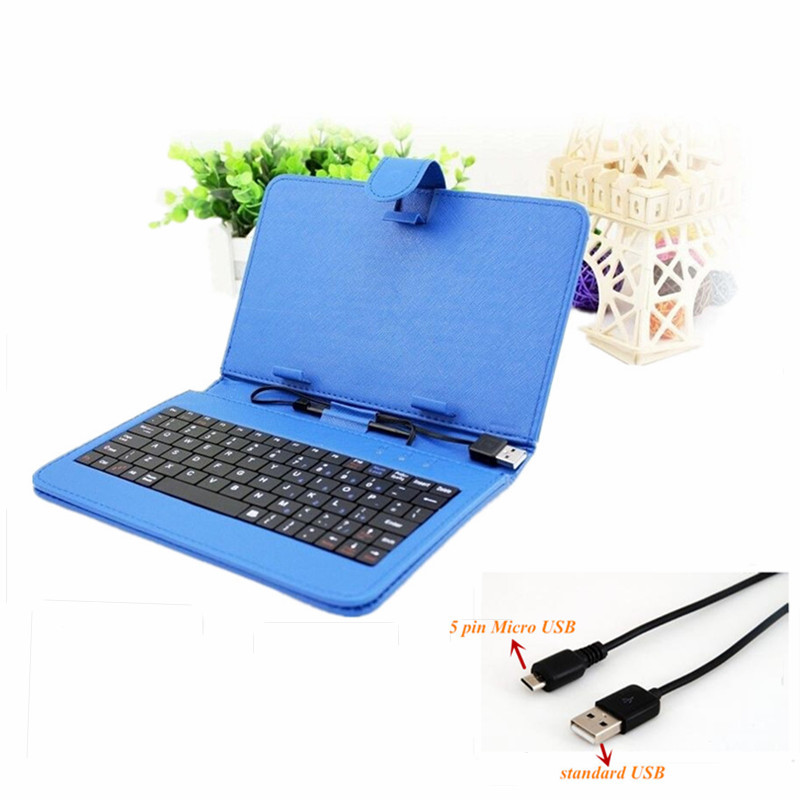 Multi Color 9 Inch Tablet PC Faux Leather Keyboard Case Universal Micro 2.0 USB Standard tablet case - MATRY TECHNOLOGY CO.,LTD. store