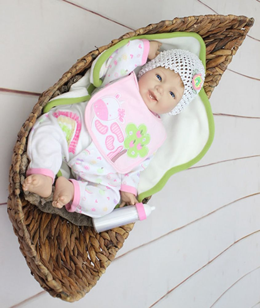 22 Lifelike Silicone Reborn Baby Alive Realistic Smile Girl Doll Gifts for Kids Playhouse Toys Shooting Decorations<br><br>Aliexpress