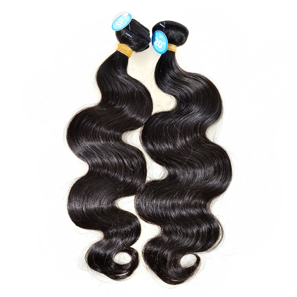brazilian hair weave bundles virgin human hair extension body wave 2 bundles deal new star top grade best hair with cuticle