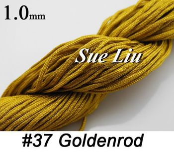1mm   Goldenrod Chinese Knot Beading 100% Nylon Cord  - 30yds
