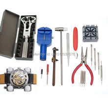 Free Shipping High Quality Universal 16pc Deluxe Watch Back Case Opener Tool Kit Repair Pin Link Remover Watchmaker
