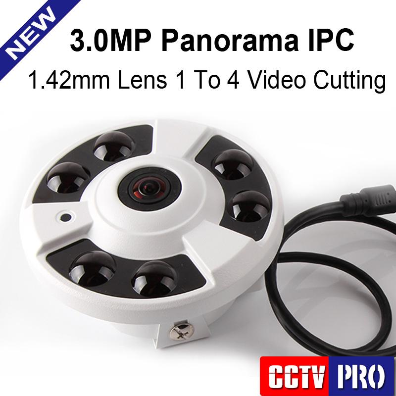 M3881C HD Fisheye Panorama IP Camera Onvif 3MP 180/360 Degree Wide Angle CCTV Camera Night Vision Security Camera P2P View(China (Mainland))
