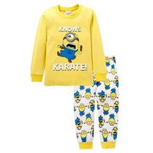 Buy New Design Despicable Suits Boys minion Pajamas Baby Cartoon Pijamas Children 100% Cotton Clothing sets Kids Sleepwears for $39.77 in AliExpress store
