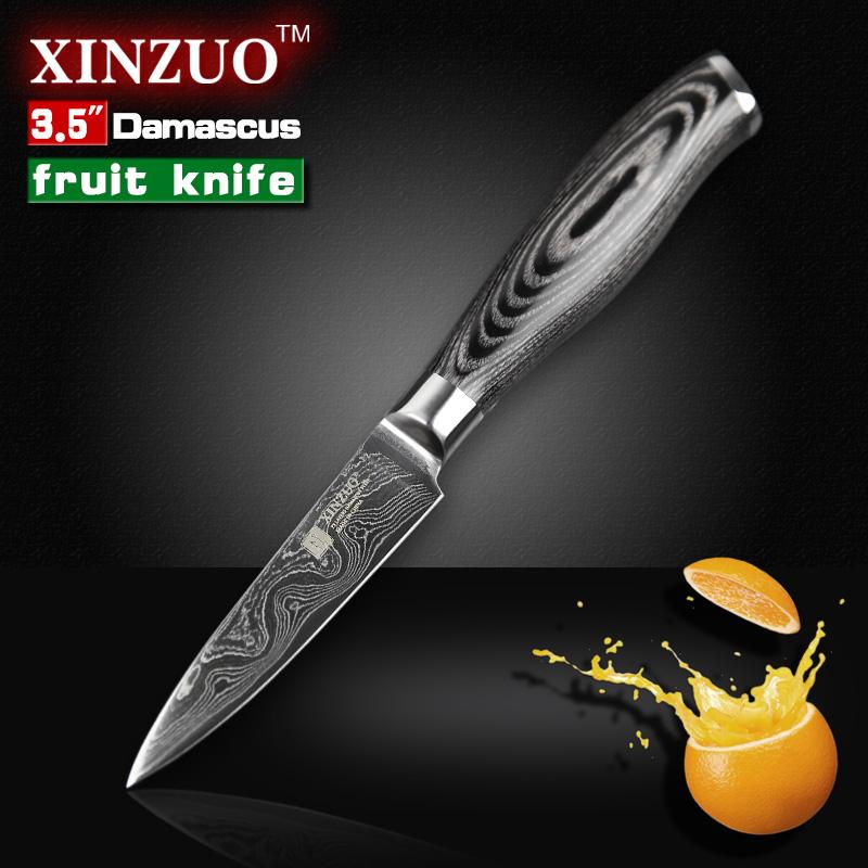 Compra damasco cuchillos de cocina de acero online al por for Cuchillo fruta