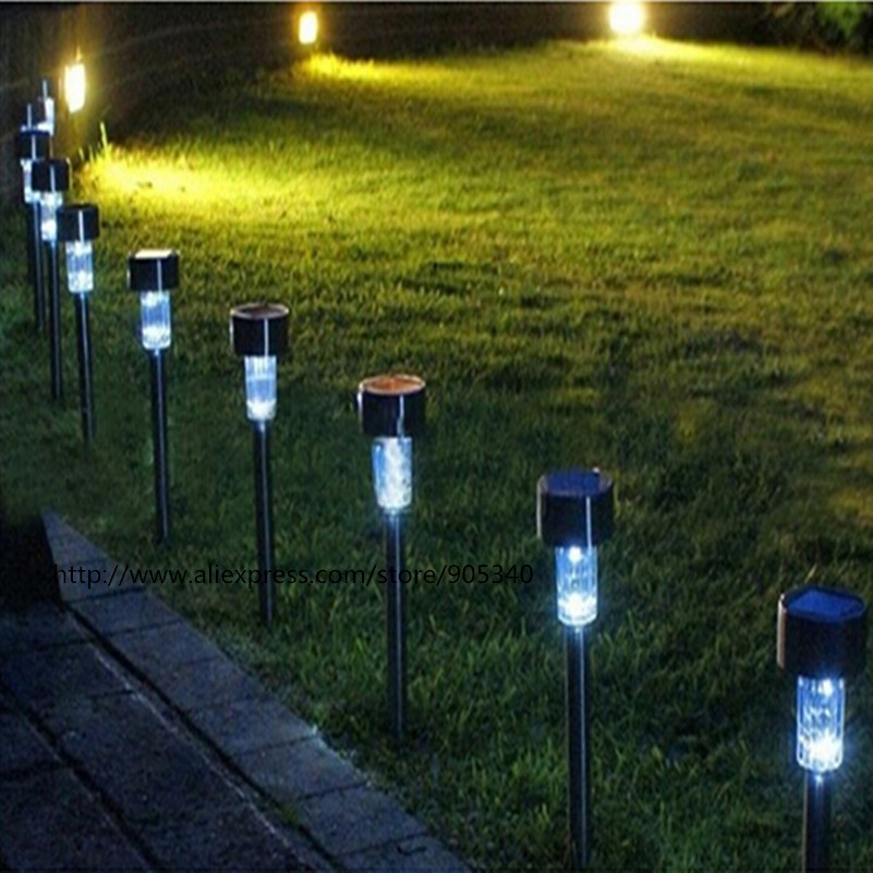 5pcs lot high quality waterproof led solar lamps white - Spot de jardin led ...