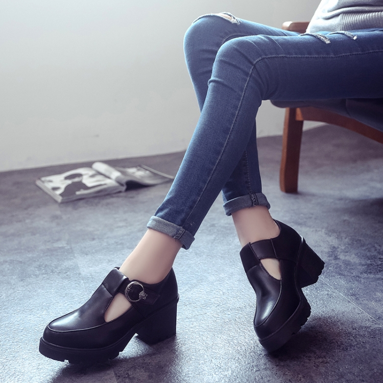 The spring and autumn British shoes with retro shoes with a thick head of womens shoes lace up shoes<br><br>Aliexpress