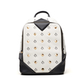 Famous Brand 2016 New Contrast Color Backpack Rivet Chic Printing Schoolbag Lady Designer Casual Daypack Fashion