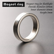 Flashlight tail magnet magnetic ring 20*16*5mm ring outer diameter 20mm, inner diameter 16mm, high 5mm(China (Mainland))