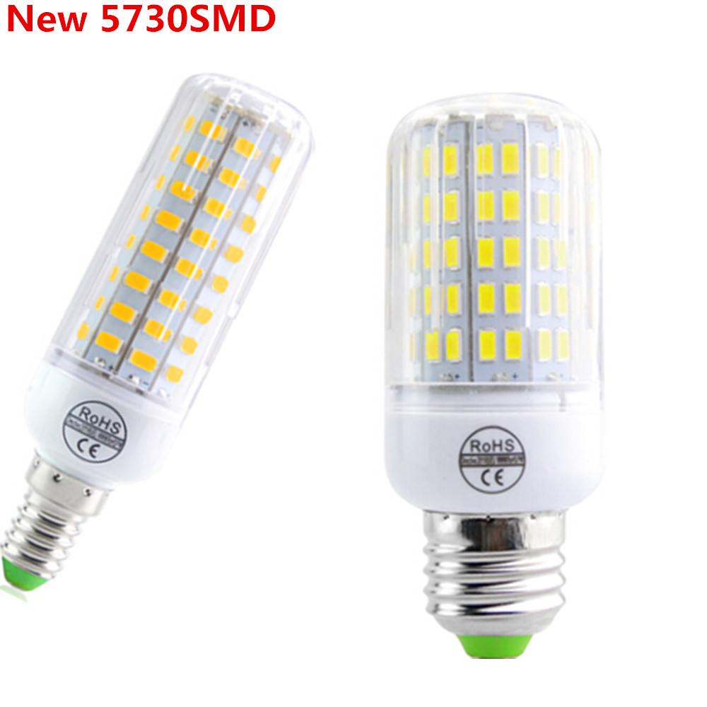 Fireproof Radiation Cover E27 E14 LED Lamp 220V Led Corn Bulb Light 24 - 108Leds New 5730 Chip lampada Le Light Chandelier(China (Mainland))