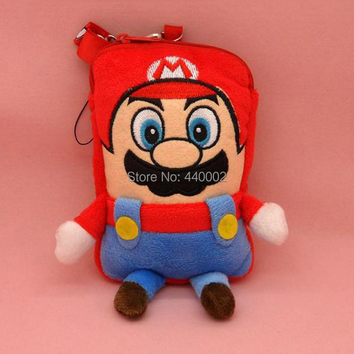 """Free Shipping EMS 50/Lot Super Mario Bros Pouch Mobile Cell Phone MP3 Case Coin bag 6.8"""" Wholesale(China (Mainland))"""