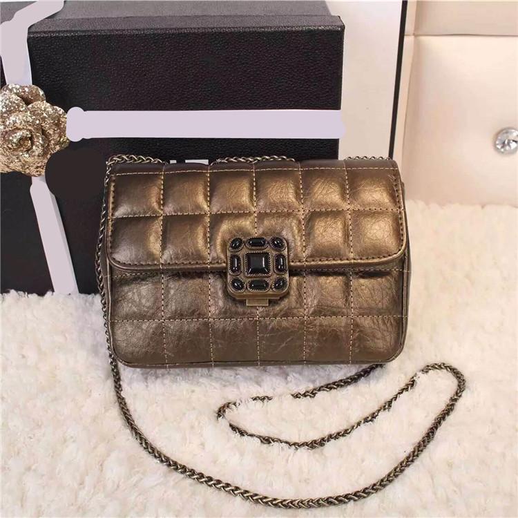 Famous brand women bag with logo 2015 new vintage genuine leather messenger bag elephant grain cowhide plaid embroidery mini bag(China (Mainland))