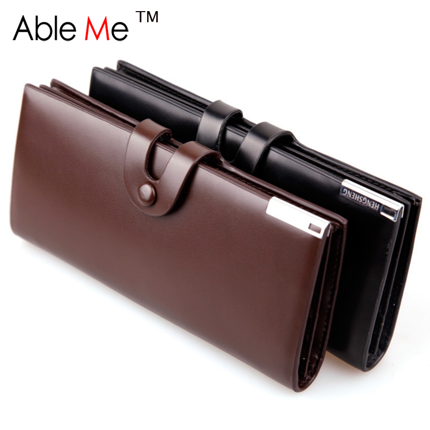 Famous Brand Dollar Price Men'S Two Layer Folded Leather Clutch Wallet Male Business Credit Card And Passport Holder Men Wallet(China (Mainland))