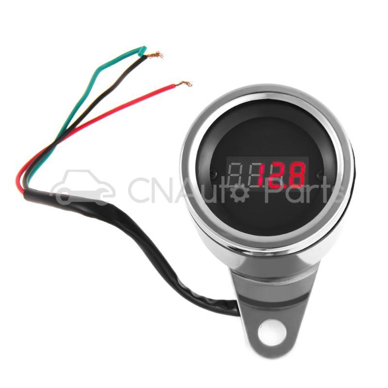 12V 60mm Red LED Digital Waterproof Motorcycle Tachometer Speedometer RPM Gauge<br><br>Aliexpress