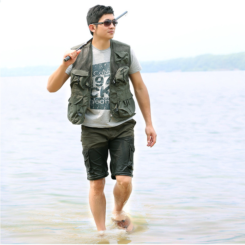 2 color fishing clothes outdoor fishing vest m 3xl fishing for Outdoor fishing