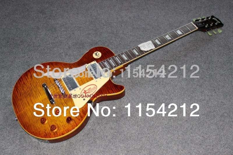 Free Shipping :1959 Reissue 1999 Custom Shop Historic Cherry Electric Guitar with AAAA tigerflame(China (Mainland))