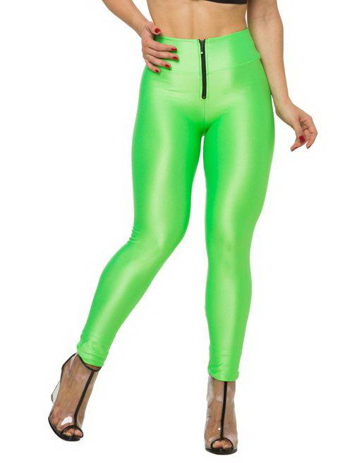 2015 сексуальные сплошной цвет неоновых высокая талия стретч черный зеленый женские леггинсы спортивные леггинсы фитнес-одежды балет танцы брюки