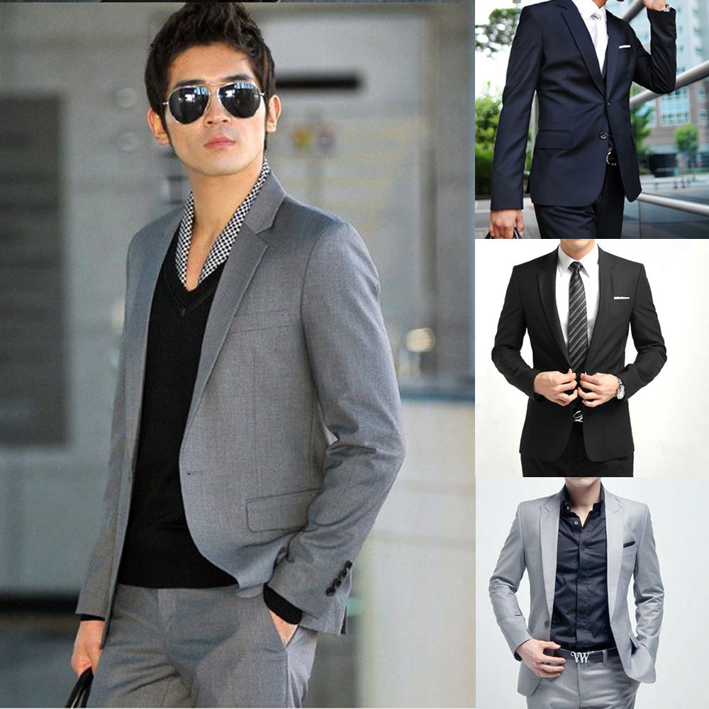 2015 High Quality New Fashion Men Suit Jacket Brand Men's Blazer Business Slim Clothing Mens Suits And Pants Top Selling(China (Mainland))