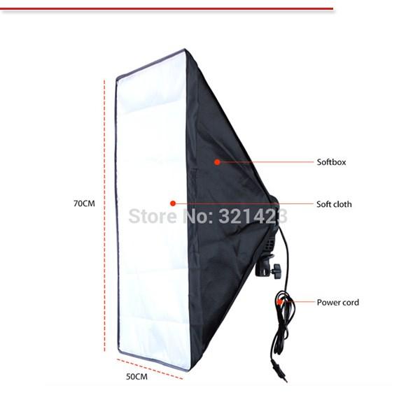 ถูก การถ่ายภาพdiffuserสตูดิโอถ่ายภาพอุปกรณ์เสริม100-240โวลต์สี่ซ็อกเก็ตผู้ถือโคมไฟที่มี50*70เซนติเมตรSoftboxรวมถึงแสงยืน