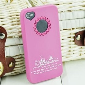 TPU Toughness Cell Phone Case For iPhone4g 4S,Many Candy Colors Hollow Out Flower Case With Plugy Fast Free Shipping