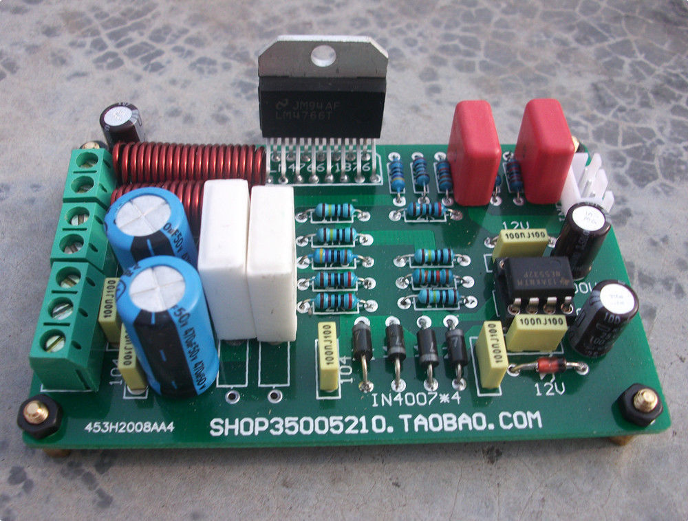 LM4766T 2*40W DC Servo Current Stereo Finished Amplifier Board(China (Mainland))