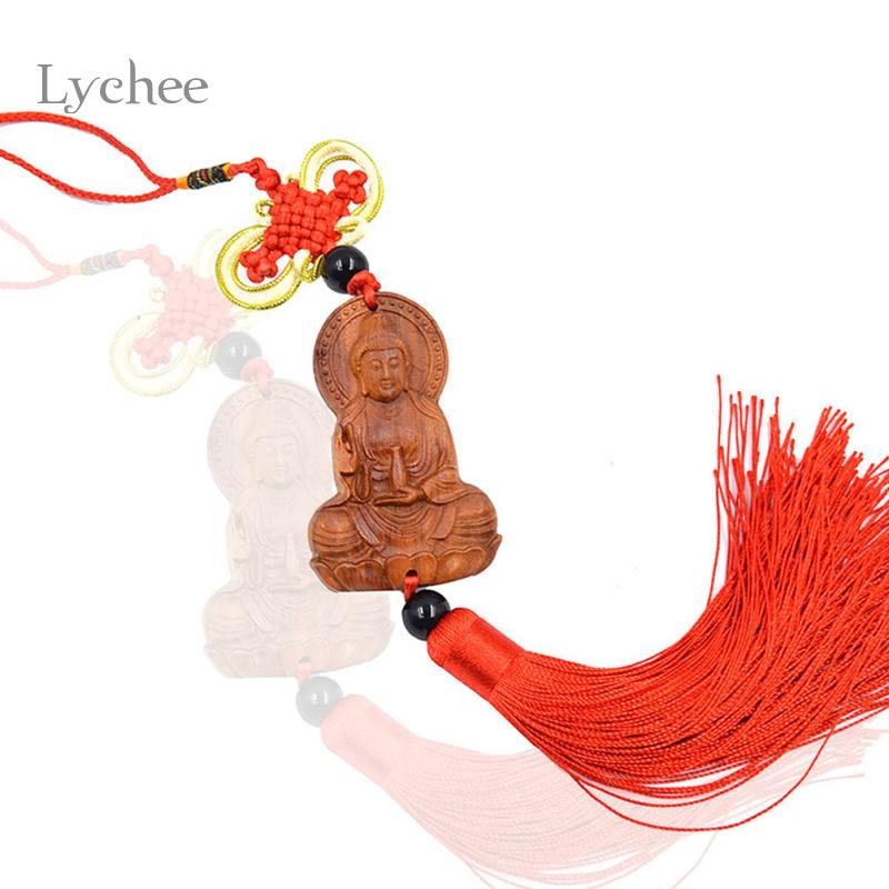 Antique Wood Guanyin Meditation Amulet Craft Car Pendant Buddhism Wooden Crafts Home Decoration(China (Mainland))