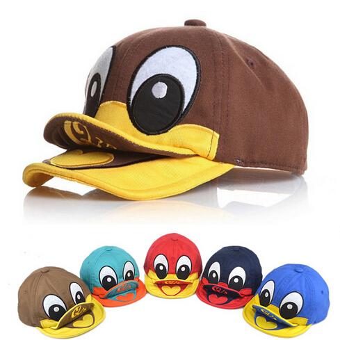 1-3 years New Cute Duck Design Newborn Photography Props Children's Hats Snapback Baseball Caps(China (Mainland))