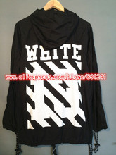 2014 Virgil Abloh OFF WHITE Ultra Thin Hooded Windbreaker UV Sun protection trench Jacket Men and Women Pyrex