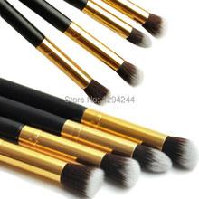1Set/4pcs Professional Eye brushes set eyeshadow Foundation Mascara Blending Pencil brush Makeup tool Cosmetic Black UuHXb