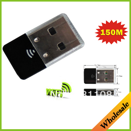 Wholesale Dropshipping 150M Mini 2.4GHz USB WiFi Wireless Network Networking Lan Card Adapter with Internal Antenna(China (Mainland))