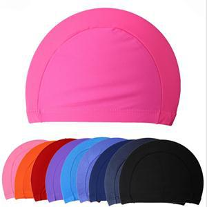 Free size Waterproof Rubber Protect Ears Long Hair Sports Siwm Pool Swimming Cap Hat For Men Women Adults(China (Mainland))