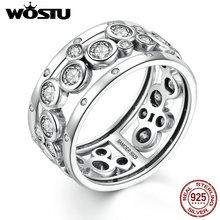 Buy Genuine 100% 925 Sterling Silver Fashion Reminiscen Rings Clear CZ Women Men Luxury Original Fine S925 Jewelry Gift for $11.49 in AliExpress store