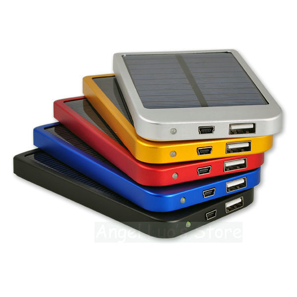 5 colors Solar Panels New Charger portable power bank powerbank external battery 2600MAH for mobile Phone MP3 MP4 PDA Universal(China (Mainland))