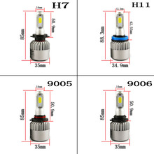 Buy hlxg S2 Auto Car H8 H11 LED Headlights 2X36W 6500K 8000LM 12V COB Bulbs Car Light Bulbs White Automobiles Replace Parts Lamps for $19.99 in AliExpress store